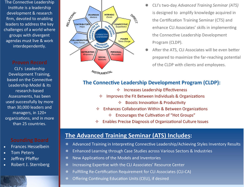 CLI Leadership Development Advanced Training Seminar (ATS), January 11-12, 2016, California Institute of Technology, Pasadena, CA