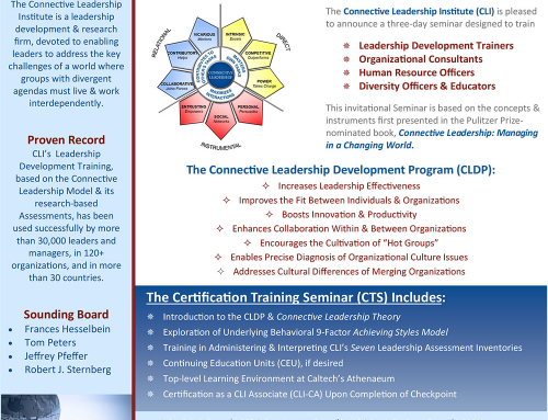 CLI Leadership Development Certification Training Seminar (CTS), January 6-8, 2016, California Institute of Technology, Pasadena, CA